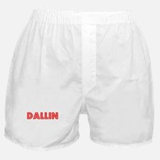 Retro Dallin (Red) Boxer Shorts