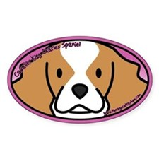 Anime Blenheim Cavalier King Charles Oval Decal