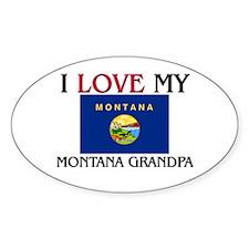 I Love My Montana Grandpa Oval Decal