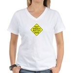 Right Wingnuts Must Exit Ahea Women's V-Neck T-Shi