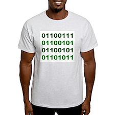 Binary Geek Ash Grey T-Shirt