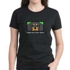 Anime B&T Cavalier Spaniel Women's Black Tee