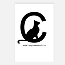 Loving the Feral Cat Soul Logo Postcards
