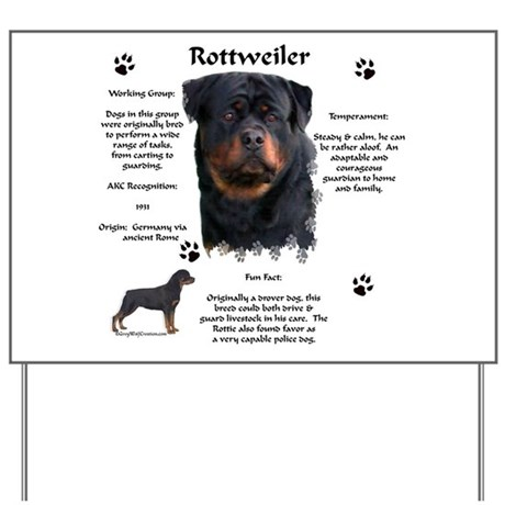 Rottie 1 Yard Sign