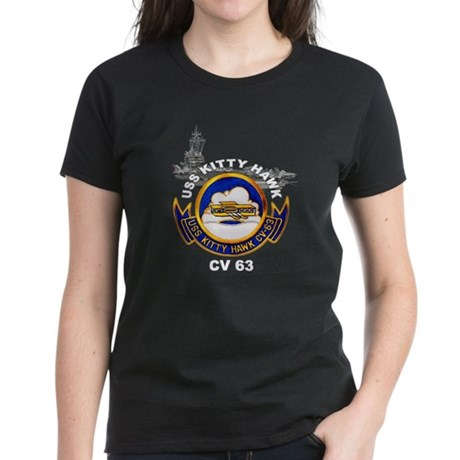 USS Kitty Hawk CV-63 Women's Dark T-Shirt