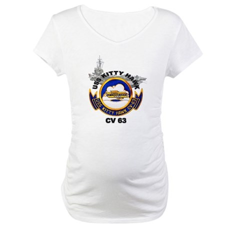 USS Kitty Hawk CV-63 Maternity T-Shirt