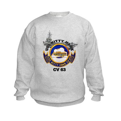 USS Kitty Hawk CV-63 Kids Sweatshirt