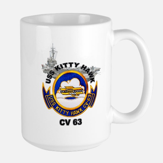 USS Kitty Hawk CV-63 Large Mug