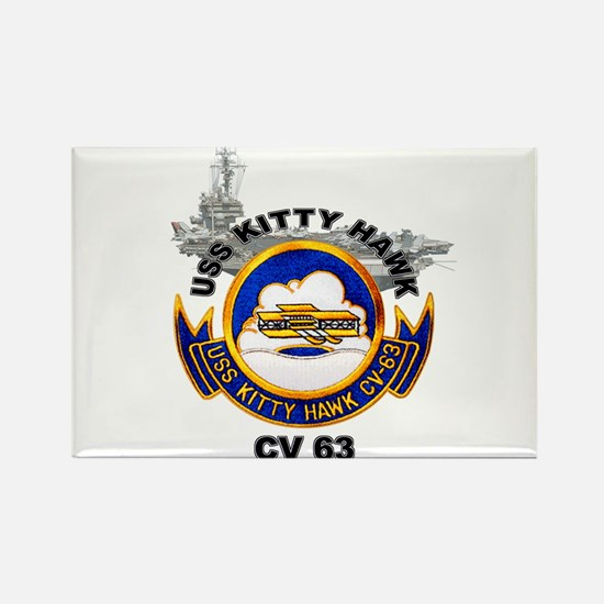 USS Kitty Hawk CV-63 Rectangle Magnet