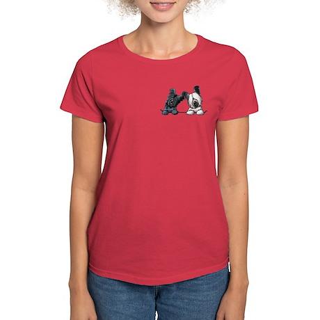 Skye Terrier Pocket Duo Women's Dark T-Shirt