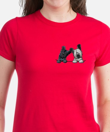 Skye Terrier Pocket Duo Women's Dark T-Shirt