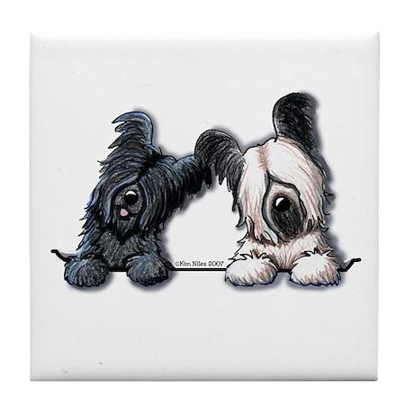 Skye Terrier Pocket Duo Tile Coaster