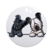 Skye Terrier Pocket Duo Ornament (Round)