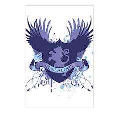 Blue Genealogy Crest Postcards (Package of 8)