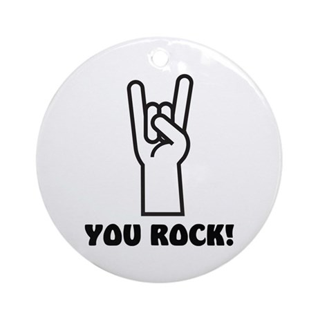 You Rock Hand Ornament (Round)