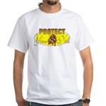 Protect your nuts White T-Shirt