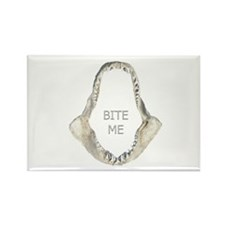 """BITE ME"" Mako Shark Jaws Rectangle Magnet"