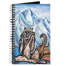 Funny Snow leopard Journal