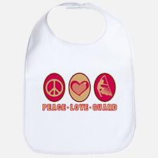 PEACE - LOVE - GUARD Bib