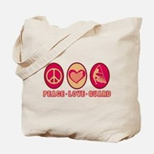 PEACE - LOVE - GUARD Tote Bag