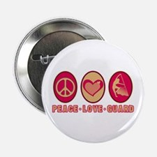 """PEACE - LOVE - GUARD 2.25"""" Button (10 pack)"""
