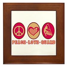 PEACE - LOVE - GUARD Framed Tile