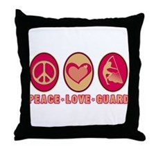 PEACE - LOVE - GUARD Throw Pillow