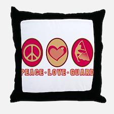 PEACE - LOVE - GUARD Throw Pillow
