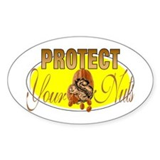 Protect your nuts Oval Decal