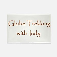 Globe Trekking w/Indy Rectangle Magnet