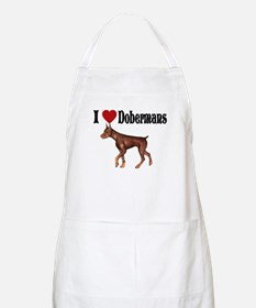I love Dobermans BBQ Apron