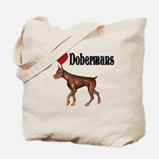 I love Dobermans Tote Bag