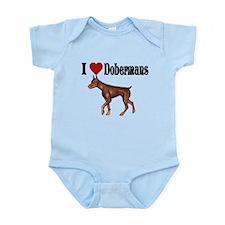 I love Dobermans Infant Bodysuit