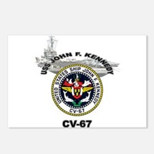 USS John F. Kennedy CV-67 Postcards (Package of 8)