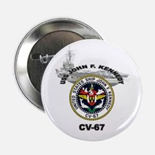 "USS John F. Kennedy CV-67 2.25"" Button"