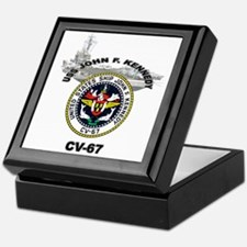USS John F. Kennedy CV-67 Keepsake Box