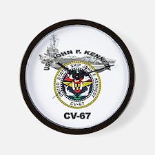 USS John F. Kennedy CV-67 Wall Clock