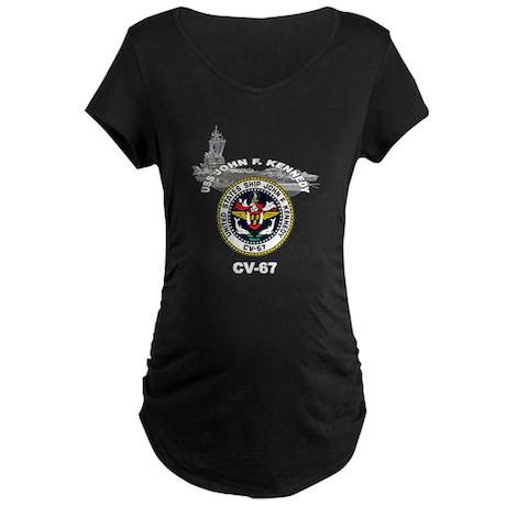 USS John F. Kennedy CV-67 Maternity Dark T-Shirt