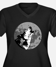 Howlin' Wolf Women's Plus Size V-Neck Dark T-Shirt
