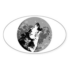 Howlin' Wolf Oval Decal