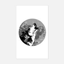 Howlin' Wolf Rectangle Decal