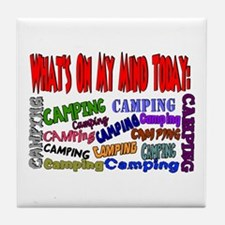 What's on my mind: Camping Tile Coaster