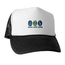 PEACE - LOVE - DRUM Trucker Hat