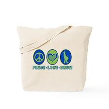 PEACE - LOVE - DRUM Tote Bag