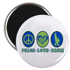 PEACE - LOVE - DRUM Magnet