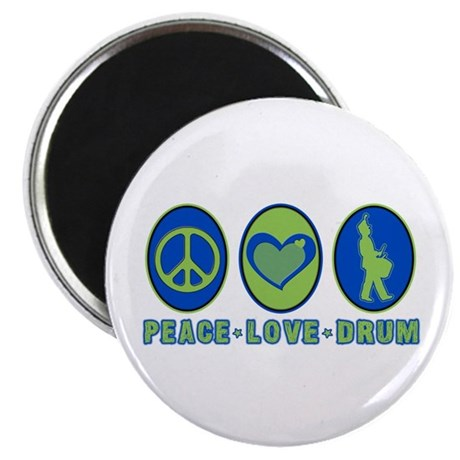 PEACE - LOVE - DRUM Magnet