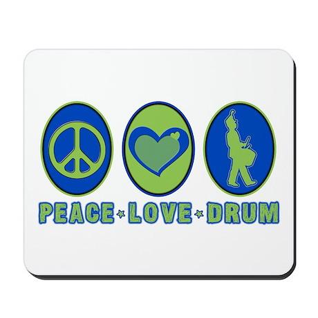 PEACE - LOVE - DRUM Mousepad