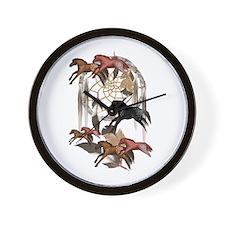 Dream Horses Wall Clock