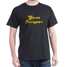 Retro Game designer (Gold) T-Shirt