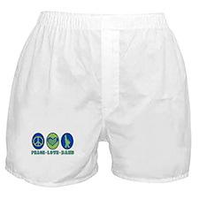 PEACE - LOVE - BAND Boxer Shorts